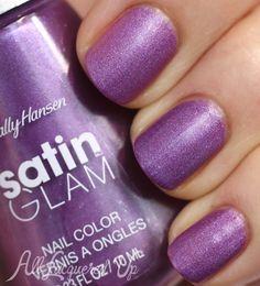 New! Sally Hansen Satin Glam Nail Polish Swatches - Shade: Taffeta