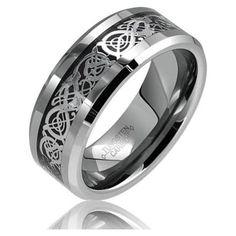 celtic style (dragon?) ring