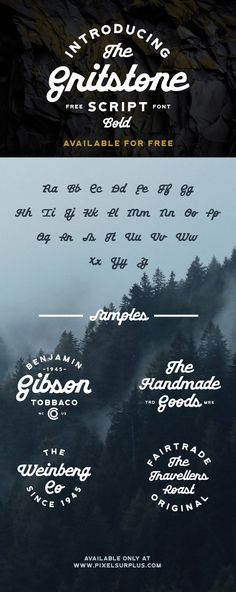 Gritstone Script Free Typeface is a bold display script font that is extremely unique. This script typeface features heavy loopy characters Bold Fonts Free, Fancy Fonts, Font Free, Nice Fonts, Tattoo Fonts Alphabet, Typography Letters, Block Lettering, Calligraphy Fonts, Script Fonts