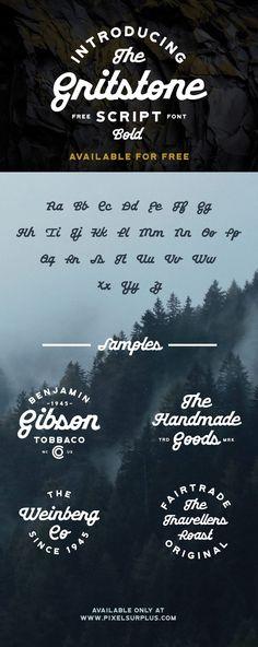 Gritstone free script fonts