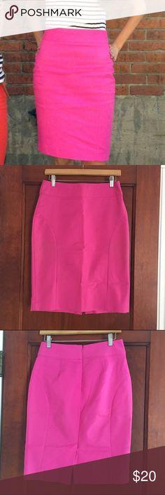 Banana Republic Hot Pink pencil skirt - size 2 Hot pink Banana Republic skirt. Great condition. Size 2. Banana Republic Skirts Pencil