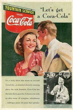 Vintage Coca Cola Advertisement Posters