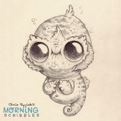 Cute illustrations  Chris Ryniak More underwater critter action! #morningscribbles