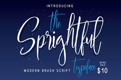 ★★ --- Queentype Introducing : Sprightful Typeface --- ★★ This Font Include In My Latest Product Font Bundle -- This sweet price Extended Use licenses. Typeface Font, Script Fonts, New Fonts, Typography, Brush Script, Pretty Fonts, Beautiful Fonts, Image Overlay, Title Font