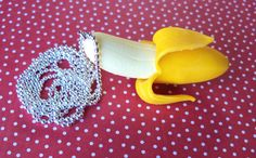 Banana Love Necklace by 3ApplesOnline on Etsy, $8.50