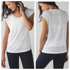 NWT lululemon Get Sweat Tee BRAND NEW lululemon get sweat tee in white. Size 6 lululemon athletica Tops Tees - Short Sleeve