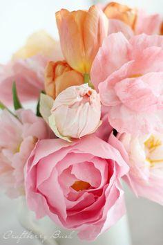 flores de papel crespón