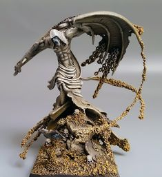 Tomb Kings: Desert Wraith, Tomb Guard, Neferata and Nagash miniatures made with extensive conversions
