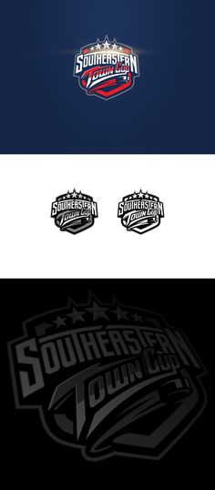 """Logo for a youth hockey league """"Southeastern Town Cup"""""""