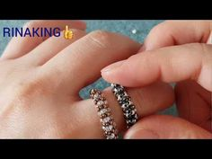 Specialty jewelry for all tastes - Fine Jewelry Ideas Diy Beaded Rings, Diy Jewelry Rings, Sea Glass Jewelry, Fine Jewelry, Jewelry Making, Beaded Necklace Patterns, Beaded Earrings, Beaded Jewelry, Ring Pops