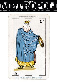 El Señor de los Anillos III, El Retorno del Rey (The Lord of the Rings, The Return of the King), 2003. Ilustración de Raúl Arias.
