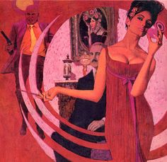 """Book cover Illustration by Robert McGinnis, """"The left leg""""."""