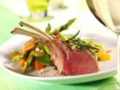 Lammkarree mit Frühlingsgemüse #lamm #lamb #recipes #rezepte