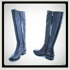 NEW IN BOX VINCE CAPUTO WIDE CALF RIDDING BOOTS Stunning equestrian style sexy classic black ridding boots by Vince Camuto. BRAND NEW IN ORIGINAL BOX WITH TAGS STILL ATTACHED. A REAL STEAL AT HALF PRICE. Vince Camuto Shoes
