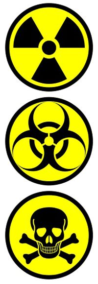 CBRN symbols