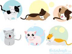 Beautiful Cats Names - Baby Cats Sleep - - Siamese Cats Dark Cute Cat Sleeping, Sleeping Animals, Easy Animal Drawings, Cute Cartoon Drawings, Cat Fountain, Cat Icon, Owning A Cat, Cute Animal Videos, Cat Drawing