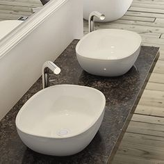 The compact Barcelona 48 is a perfect space saver for smaller bathrooms. Designed to complement Victoria + Albert's Barcelona freestanding bath. Victoria And Albert Baths, Bath Uk, Countertops, Plumbing, Countertop Basin, Basin Design, Free Standing Bath, Sink, Steam Showers Bathroom