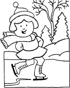 Winter coloring page - Snowball fight | Coloring Pages | Pinterest ...