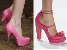 pink fashion | Pink Heels as Best Shoes at New York Fashion Week Spring 2012