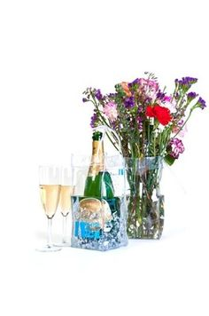 Bottle on Ice Clear  Ice bucket wine champagne chiller cooler reusable gift bag http://www.ortutraders.com/bottle-on-ice/  http://www.facebook.com/pages/Bottle-On-Ice/273440142708868