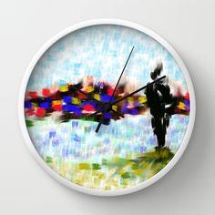 Les Amoureux Wall Clock by Escrevendo e Semeando - $30.00