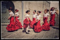 Flamenco by Michel Bricteux Flamenco Costume, Flamenco Dancers, Spanish Girls, Spanish Food, Dance Costumes Kids, Dance Instructor, Thinking Day, Dance Art, Traditional Outfits