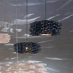 Lámpara de suspensión Aros negra de arturo alvarez