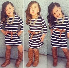 Adorable, and she looks great in her outfit!