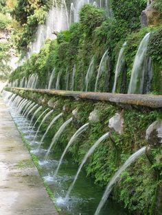 The Walk of 100 Fountains in Tivoli, Italy, Villa D'Este