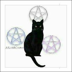 90 CAT PENTACLES Address Labels 3 Sheets Wicca Magick   $7.95