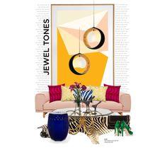 Zebra grounds the space... by gloriettequartet on Polyvore featuring interior, interiors, interior design, home, home decor, interior decorating, Muuto, Besa Lighting, Kravet and Marimekko