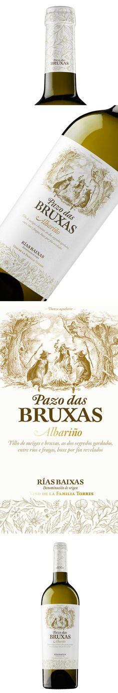 La última apuesta de Bodegas Torres es Pazo das Bruxas, un albariño premium elaborado en Galicia con Denominación de Origen Rías Baixas.  Este vino es un homenaje a la tradición y a la naturaleza de Galicia, tierra de grandes bosques habitados por meigas o brujas gallegas y seres mágicos.  Las cepas de albariño que dan vida a Pazo das Bruxas son el mejor fruto de esta tierra. Por ello, el diseño de la nueva botella es sobrio y elegante. wine / vinho / vino mxm