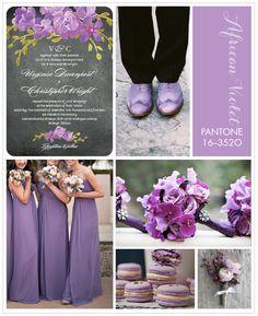 Violet wedding inspiration board from Wedding Paper Divas