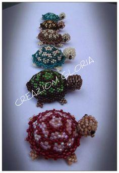 Il filo di mais di Chiara Gloria e Daniela: Tessitura Miyuki : schema tartarughina