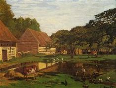 A Farmyard in Normandy - Claude MonetClaude Monet♦️More Pins Like This At FOSTERGINGER @ Pinterest ♦️