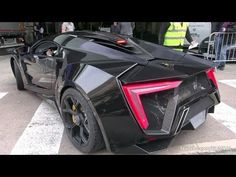 $3.4 Million Lykan HyperSport by W-Motors - driving on the road in Monaco! - YouTube