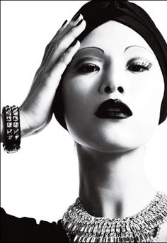 New post on ladydarkglam Riyo Mori, Christopher Niquet, Septum Ring, Rings, Fashion Editorials, Jewelry, Jewlery, Jewerly, Ring