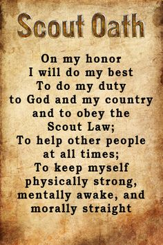 boy scout oath - Google Search