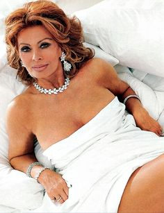 "Sophia Loren- 78. The Italian screen siren and grandmother-of-three puts her beauty down to luck and hard work. ""Discipline is the great equaliser,"" she says. ""If a young woman is beautiful but has no discipline, she'll lose her looks. If a plain woman is disciplined she will... become more beautiful with time."""