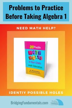 Is your child ready for algebra Do they have holes in their math education? Check out these 20 possible holes. Working with units, adding and subtracting integers, and more. 8th Grade Math, Math Class, Adding And Subtracting Integers, Math Tutorials, Learning Multiplication, Math Help, Algebra 1, Math For Kids, Kids Education