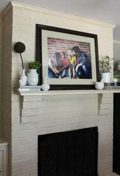 Family picture over fireplace? | Austin Nesties