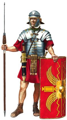 TOUCH this image to discover its story. Image tagging powered by ThingLink Rome History, Ancient History, Imperial Legion, Roman Armor, Roman Spear, Greek Pantheon, Rome Antique, Roman Warriors, Roman Legion