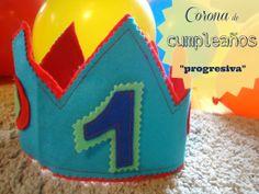 Reto facilísimo: Corona de cumpleaños progresiva.   Elenarte