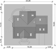 Rzut projektu Cezar Floor Plans, House, Projects, Prefabricated Home, Log Houses, Haus, Homes, Floor Plan Drawing, Houses