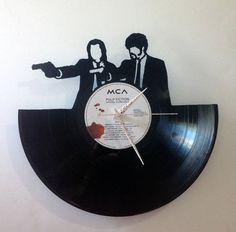 Pulp Fiction Jules and Vincent Record Clock di High5Design su Etsy