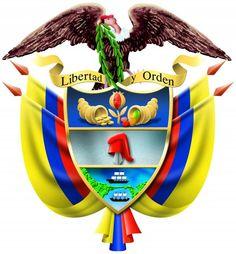 El escudo de Colombia tiene incluido el mapa de Panamá Colombian Art, Colombia South America, Global Village, National Symbols, Native Art, Logo Nasa, Coat Of Arms, School Projects, Christmas Ornaments