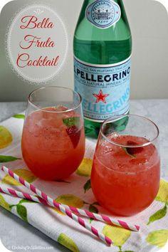 S. Pellegrino Bella Fruta Cocktail   Cooking In Stilettos  http://cookinginstilettos.com/bella-fruta-cocktail-live-off-the-menu-with-s-pellegrino/  #LiveOffTheMenu #SanPellegrino