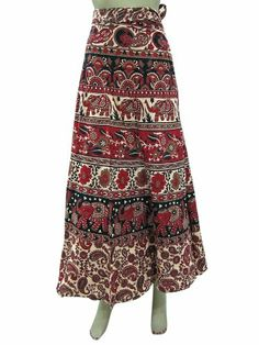 Long Wrap Skirt Red Beige Elephant Printed Long Wrap Skirts Maxi Skirts Mogul Interior,http://www.amazon.com/dp/B00HX9O7XC/ref=cm_sw_r_pi_dp_TnX2sb1KJM0ZQ43E