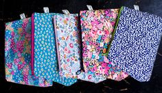 Liberty Cosmetic pouches at www.novamelina.com  #Liberty #of #London #fabric #handmade #crafts #Finnish #design #Thorpe #Glenjade #Bellis #Betsy #Garden #Wonderland