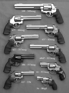 Smith and Wesson revolvers collection